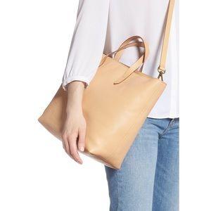 Madewell Zip Top Transport Carryall Linen Tan